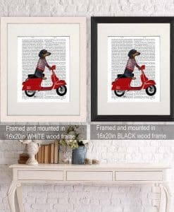 Fab Funky Dachshund on a Moped BP260520726 2
