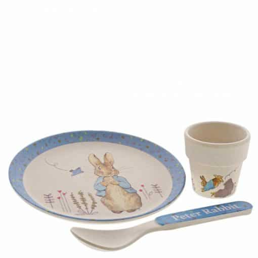 Peter Rabbit Bamboo Egg Cup Dinner Set A29638