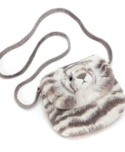 Jellycat Sacha Snow Tiger Shoulder Bag SAC4SB