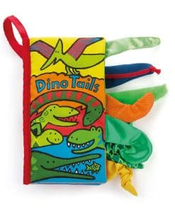 Jellycat Dino Tails Book BK444ND