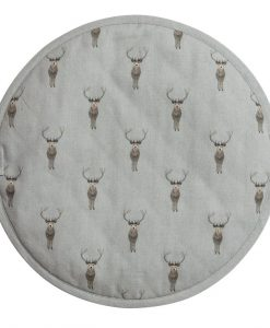 Sophie Allport Highland Stag Circular Hob Cover ALL29175