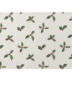 Sophie Allport Christmas Holly & Berry Fabric Placemat ALL50820