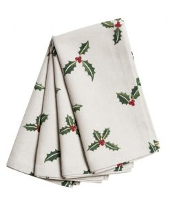 Sophie Allport Christmas Holly & Berry Napkins set of 4