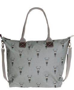 Sophie Allport highland stag grey oilcloth bag