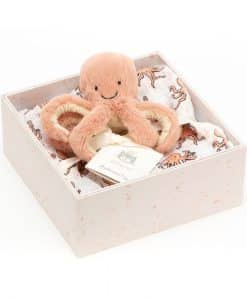 Jellycat Odell Octopus Baby and Muslin OD2SET
