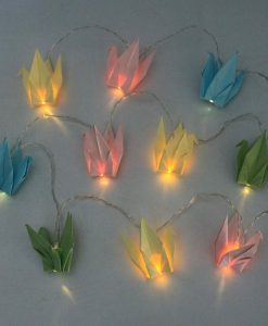 House of Disaster String Lights with Origami Birds