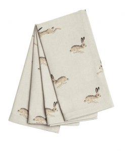 Sophie Allport Hare Napkins set of 4