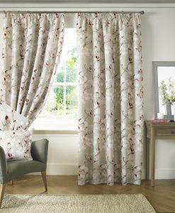 Ashley Wilde Anita Poppy Curtains