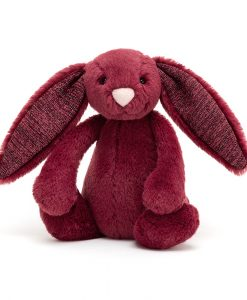 Jellycat Bashful Sparkly Cassis Bunny Small BASS6SCAS