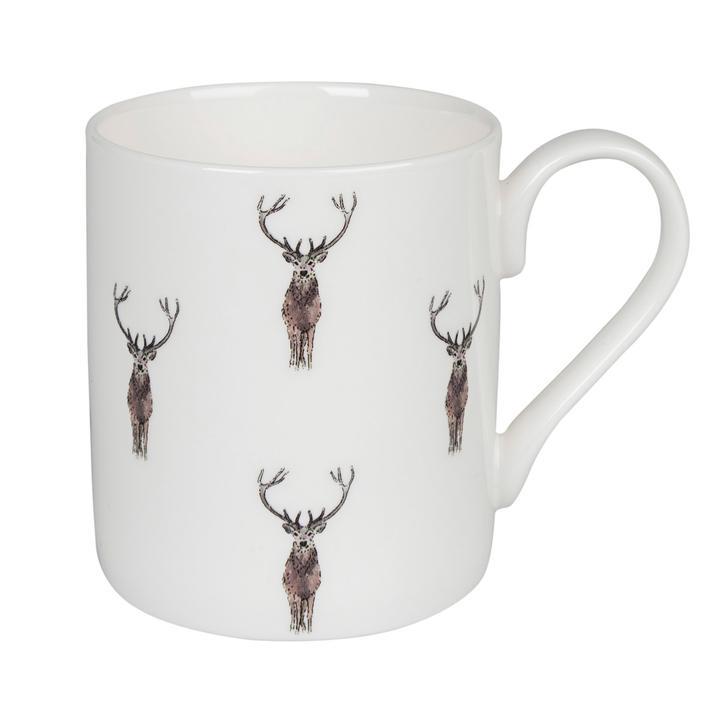 Meg Hawkins Bone China Stag Mug