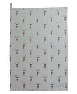 Sophie Allport Highland Stag Teal Towel ALL29601
