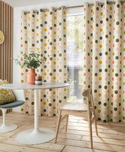 Orla Kiely Spot Flower Summer Curtains