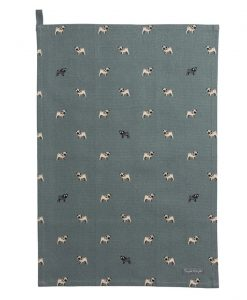 Sophie Allport Pug Tea Towel