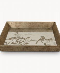Waltham Decorative Tray with Bird Pattern