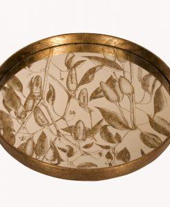 Waltham Mirrored Round Foliage Tray