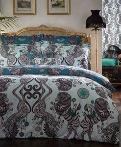 Emma J Shipley Caspian Aqua Teal Bedding