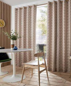 Orla Kiely Linear Stem Latte Ready Made Curtains