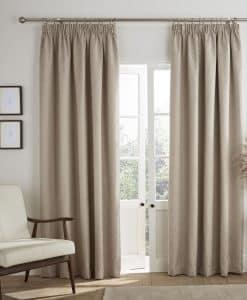 Ashley Wilde Ardley Stone Blackout Readymade Curtains