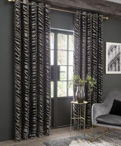 Ashley Wilde Jovan Grey Eyelet Curtains