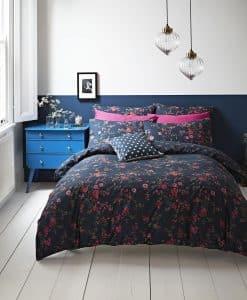 Cath Kidston Millfield Blossom Navy Bedding