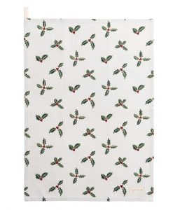 Holly & Berry Christmas tea towel Sophie allport ALL50601