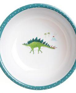 Sophie e allport dinosaur-melamine-bowl-and-spoon-lifestyle-web MBL45142