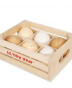 Le Toy Van Farm Eggs Half Dozen Crate TV190