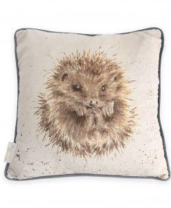 Awakening hedgehog square wrendale cushion