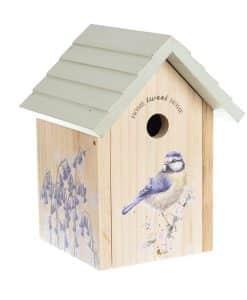Blue tit birds house wooden wrendale garden gift