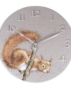 CLK008 'The Acrobat' Squirrel Wall Clock