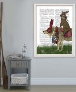 Arrival of the Hare King, Book Print