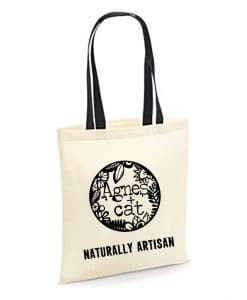 Agnes and Cat Cotton Bag - 35x30 cm - Naturally Artisan