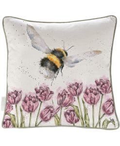 CU021 wrendale flight of the bumble bee feather filled cushion