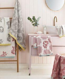 Cath Kidston Freston Rose Pink Towels