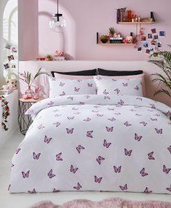 Skinny Dip Butterfly Bedding Pink