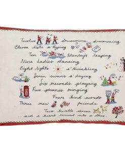 Cath Kidston Festive Poem Parchment Cushion