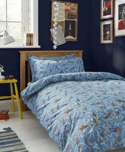 Cath Kidston Rockets Sky Blue Bedding Set