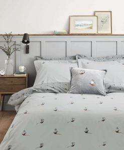 Sophie Allport Pheasant Grey Bedset