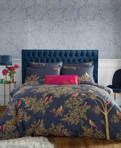 Sara Miller Smokey Blue Birds Bed Linen Set