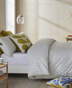 Orla Kiely Tiny Stem Light Cool Grey Bedding