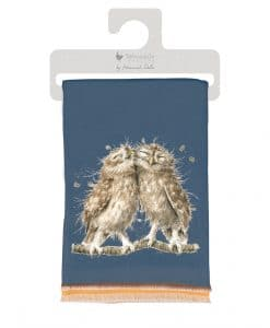 WSCF011 Owl Birds of a feather winter soft scarf gift bag