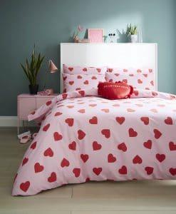 Sskinny Dip Hearts Pink Bedset