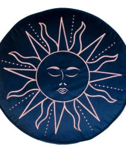 Skinny Dip Embroidered Sun Rounded Cushion